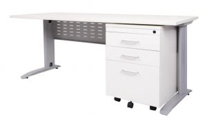 Span White Desks & Workstations